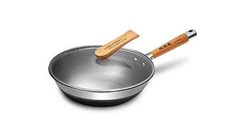荷叶系列不锈钢炒锅