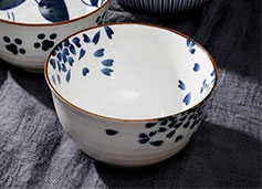 日本神田烧瓷碗|古染手作、雅而不娇,让一餐一饭都美若春日风光