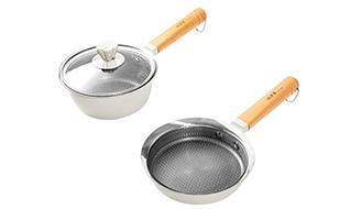 蓮の葉ステンレスの鍋