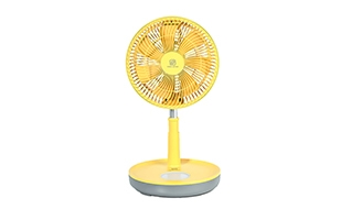 折り畳み式扇風機(黄色)